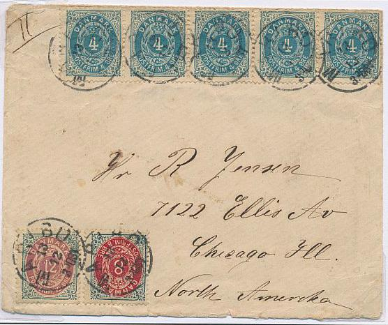 1875. 12 øre, 18-19.print. 2 pages with scarce covers