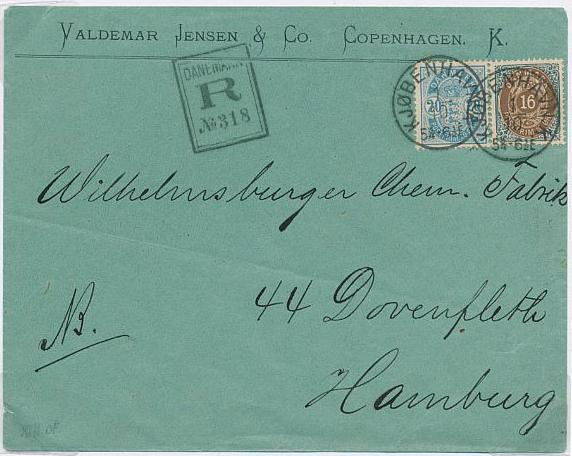 1875. 16 øre, 11 and 13.print. 2 pages with scarce covers