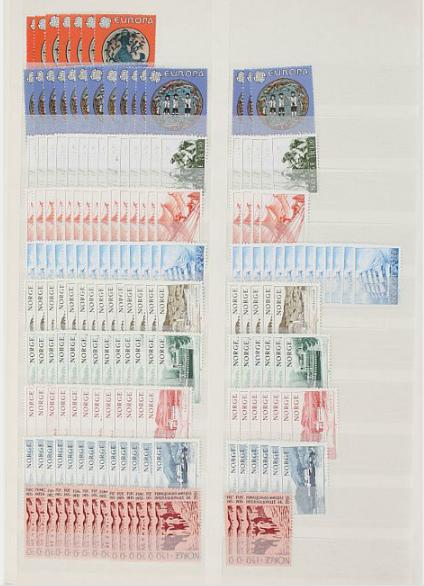 Norway. 1945-1985. Very well organized stockbook with NH issues. High cat.v. and face value