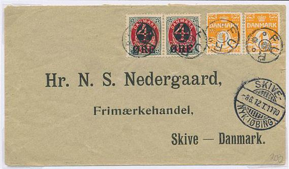 1904. 4/8 øre, grey/red. 2 exhibition pages