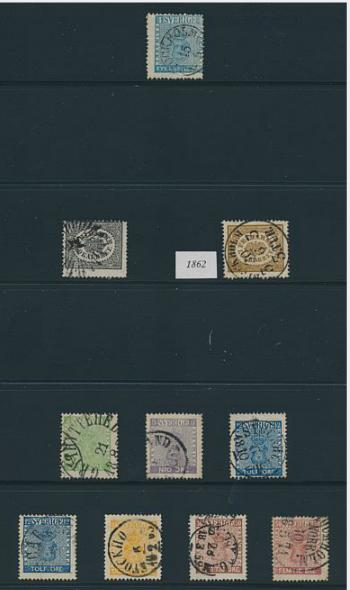 Sweden. 1855-1987. Well-filled collection in 3 albums