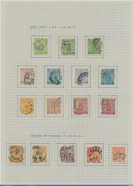 Sweden. 1855-1996. Fine used coll. in 4 albums with many scarce early stamps etc.