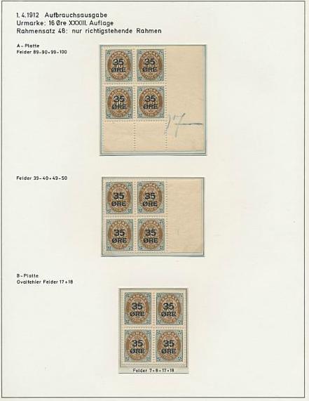 1912. Overprint. 35/16 øre, brown/grey
