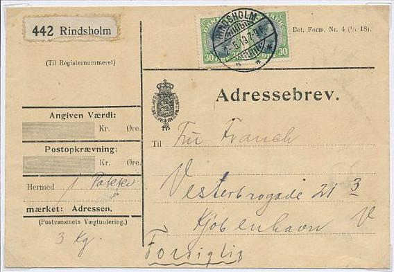 1918. Chr. X. 30 øre, green/black. 2 exhibition-pages with beautiful material