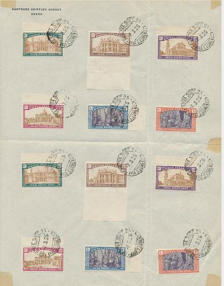 Italy. 1924. 4 used sets. AFA: 4500