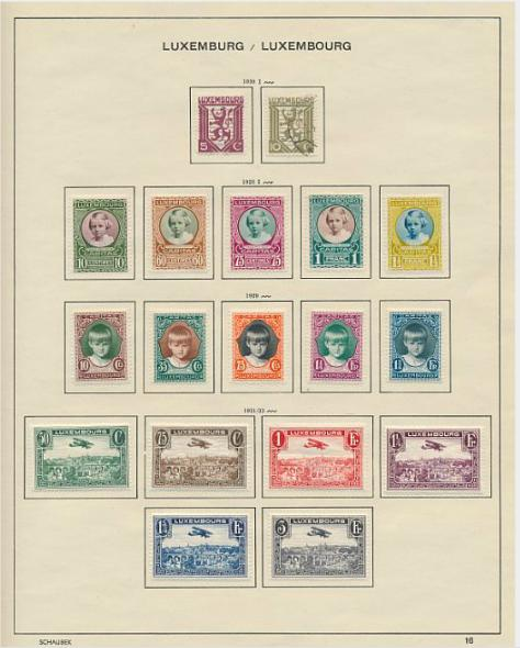 Luxemburg. 1865-1963. Fine and wellfilled collection with all Caritas and many other better sets.