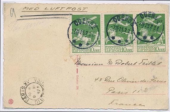 1925. Airmail. 10 øre, green