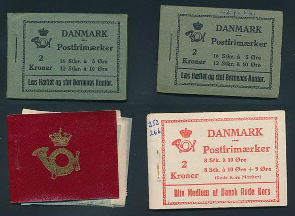 Denmark. Booklets. Lot older incl. some not complete