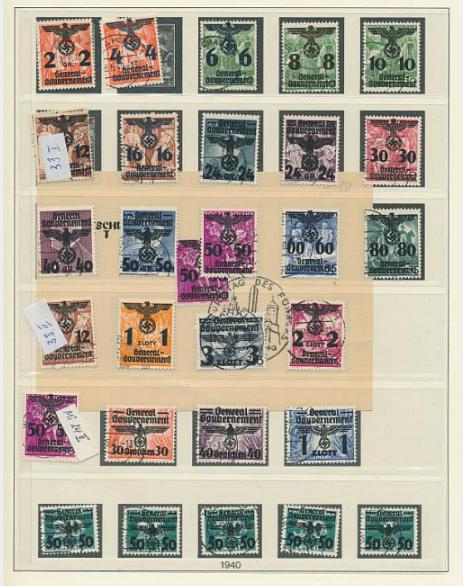 German Reich. Böhmen & Mähren. Complete used collection incl. some covers and imperforated set.