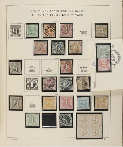 Germany. Old Schaubek-album with many States, Zones, Occupations etc. etc. very high cat.v.
