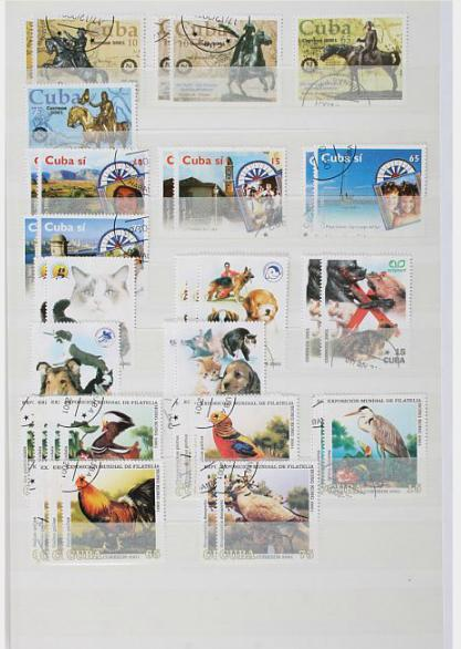Cuba. 5 albums filled with modern stamps, sets and blocks