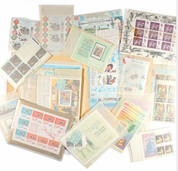 British Commomwealths. Box with modern material incl. some England, many complete sets and minisheets incl. better