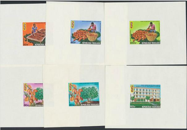 French Colonies. 2 small albums with IMPERFORATED blocks, proofs etc.