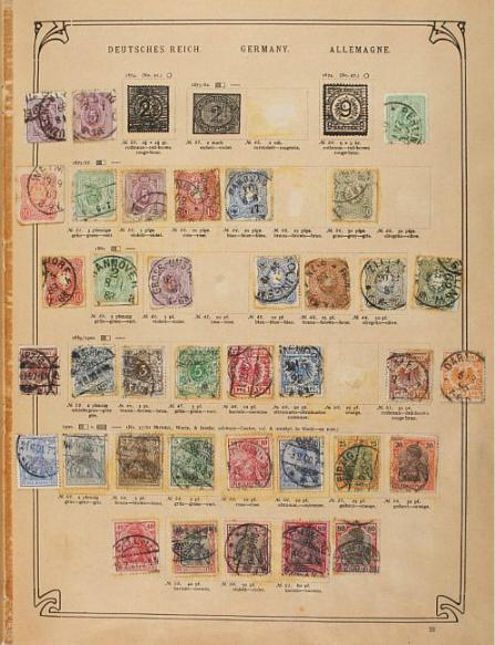 Whole World. An old Schwaneberger album (from 1911) with many classic and older stamps incl. Colonies.