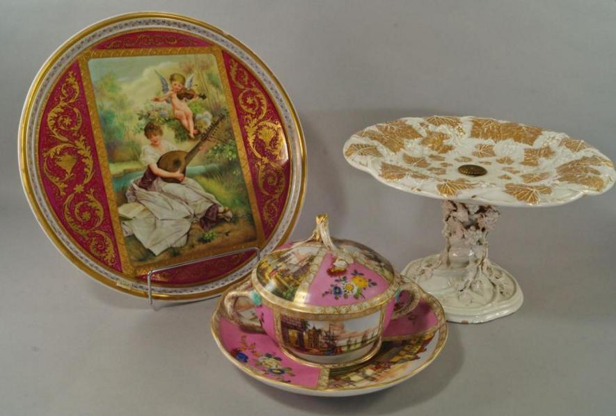 A Meissen porcelain tazza