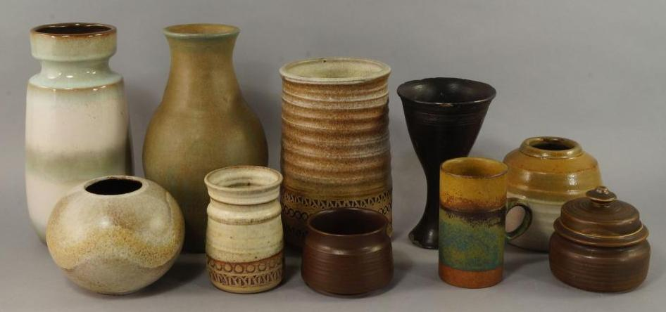 A collection of stoneware vessels