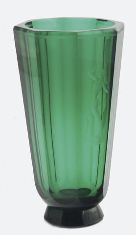 Green vase, art-deco