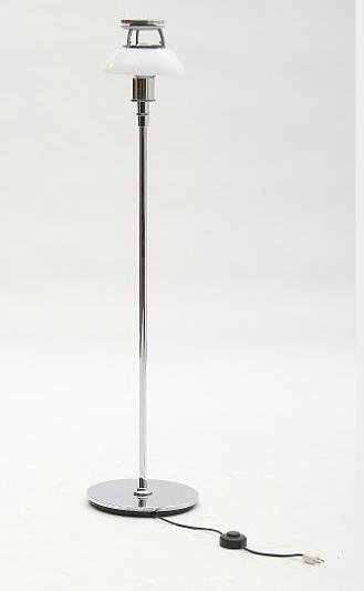 """""""PH-4.5/3.5"""". Chromed floor lamp with multi-layer middle opal glass shade"""