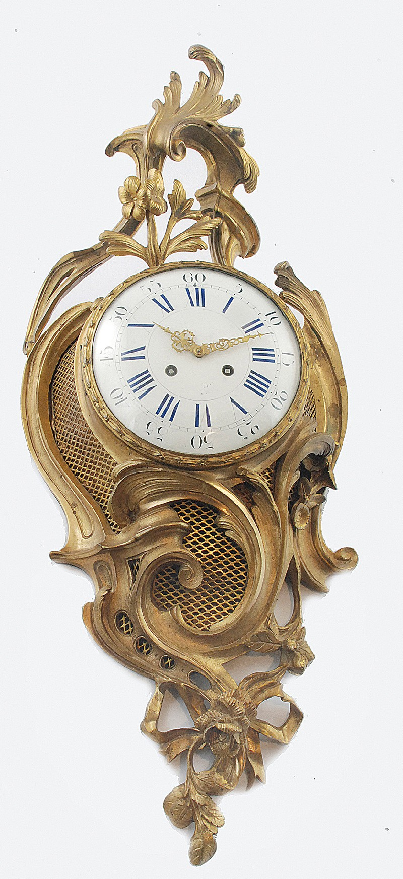 Wall Clock type of cartel, in the manner of rococo