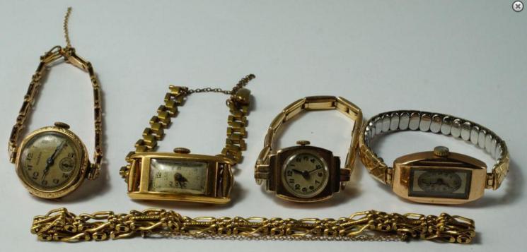 A Russian 56 zolotniks gold gate style bracelet