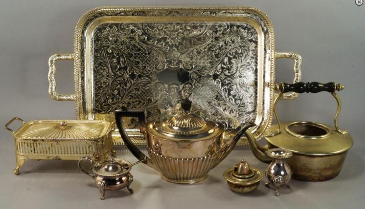 A large miscellaneous collection of silver plate. (lot)
