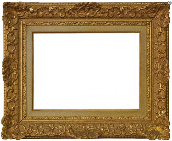 A Reproduction Gilt Composition Louis XIV Style Frame