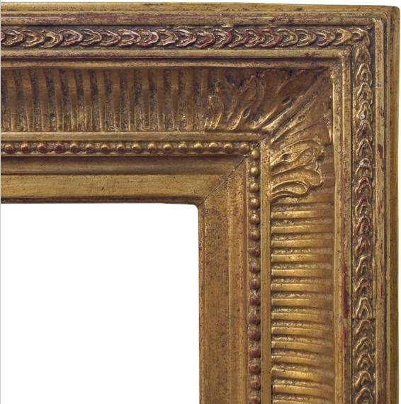 A Gilt Composition Empire Style Frame