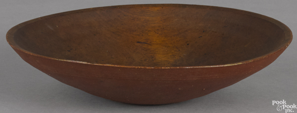 Turned and painted wood bowl