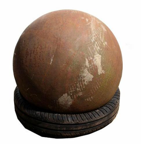 A larger decorative iron globe