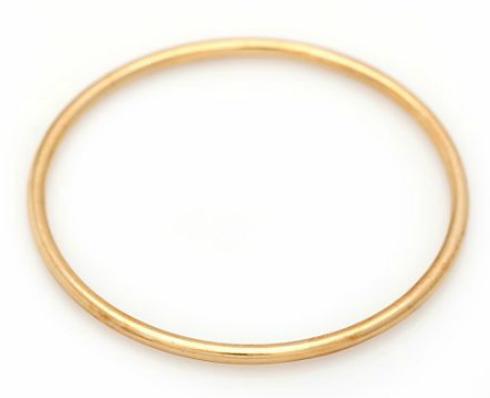 bangle of 14k gold. Diam. 6.2 cm. Weight app. 3 g