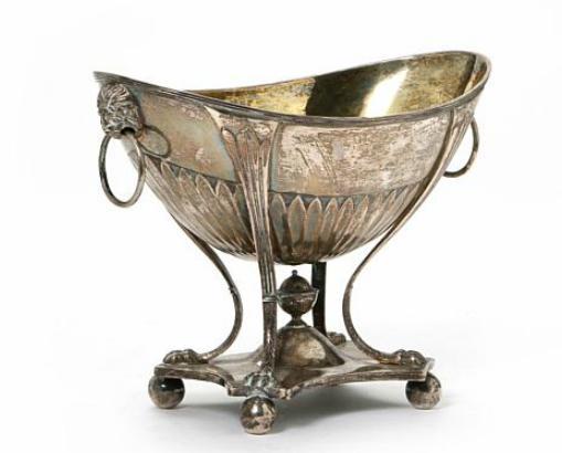 Danish Empire silver sugar bowl