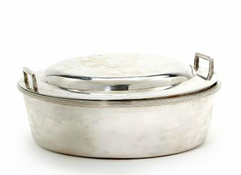 An Austrian silver dish and cover. Vienna 1804