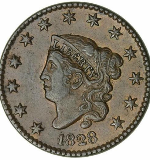 USA, 1 Cent 1828, KM 45