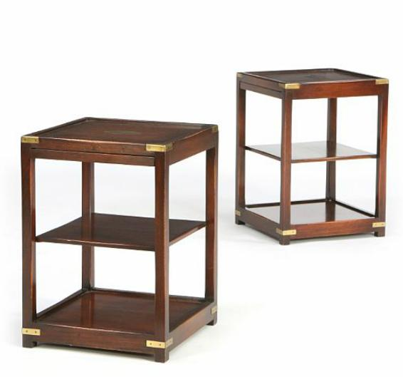 A pair of English occasional mahogany tables