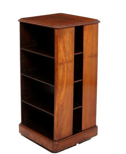 An English 19th century mahogany revolving bookcase