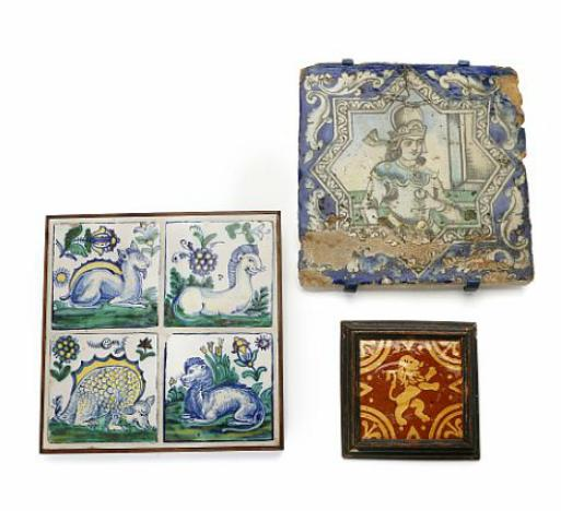 19th/20th century Persian, Mexican and Dutch tiles
