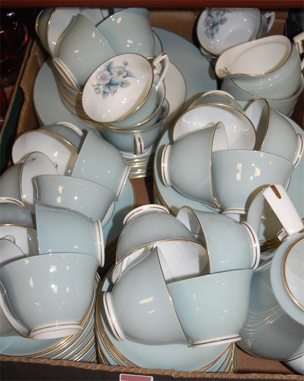 A Royal Worcester part tea/dinner service in the Woodland pattern