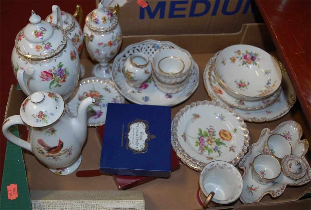 A collection of 19th century and later English and continental porcelain to include