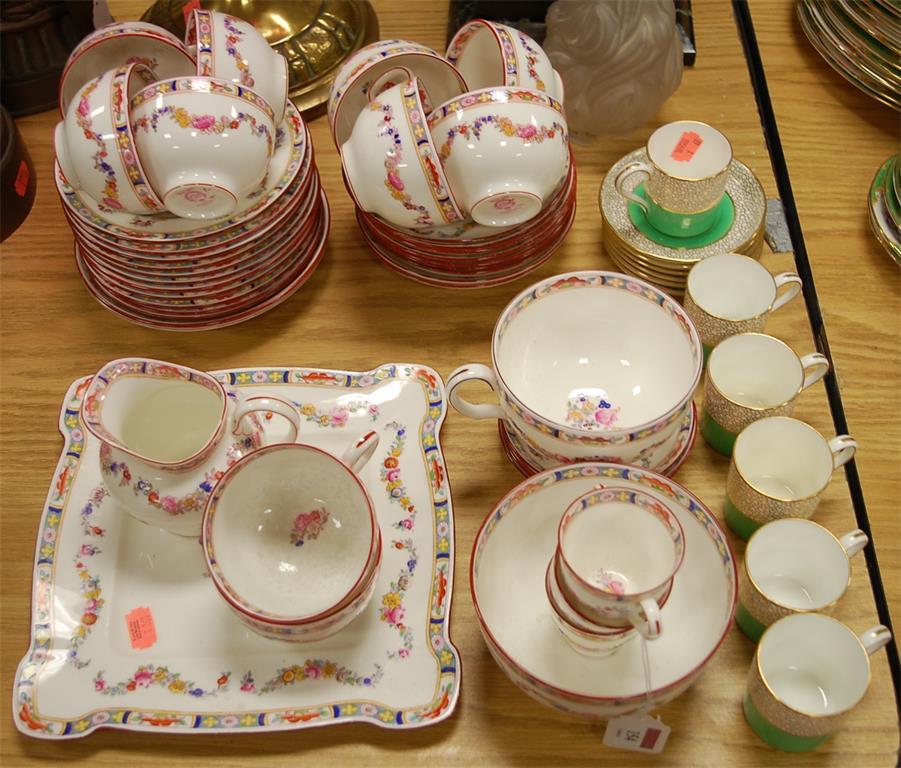 A Minton part tea service in the Minton Rose pattern