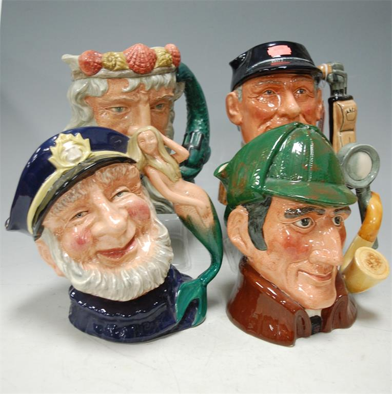 Four Royal Doulton character jugs to include