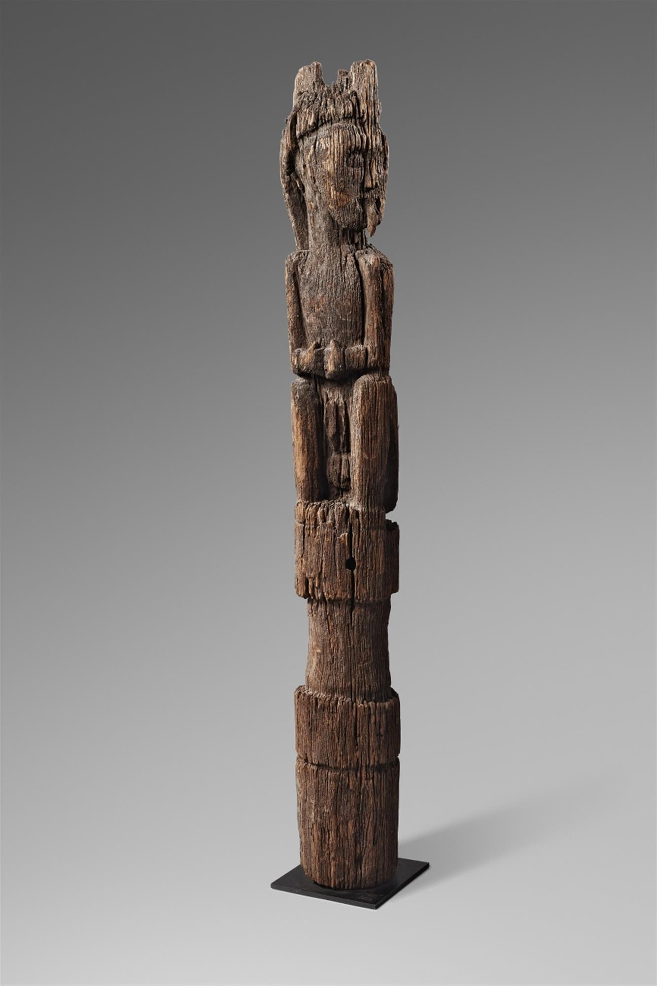 A DAYAK FIGURE POST
