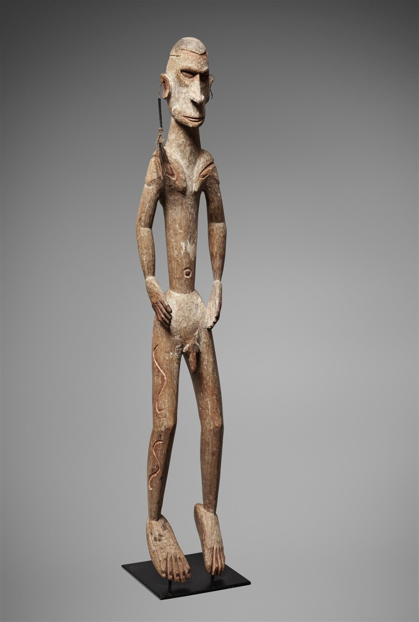 AN ASMAT FIGURE