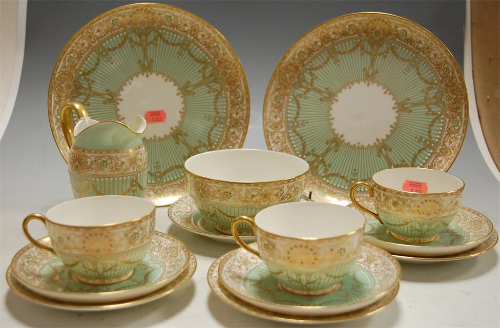 An early 20th century Royal Worcester part tea service