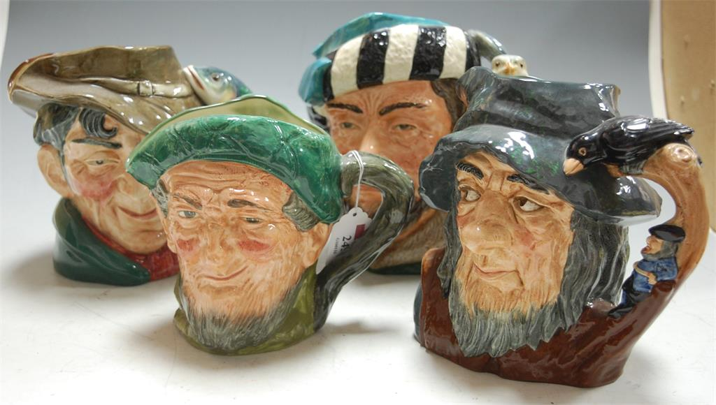 Four Royal Doulton character jugs to include; Auld Mack D5823