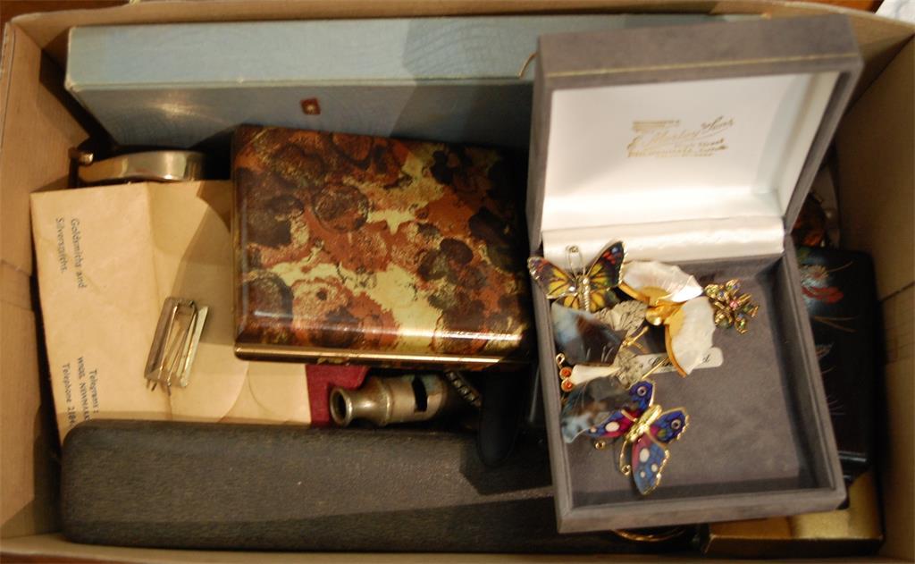 A box of miscellaneous costume