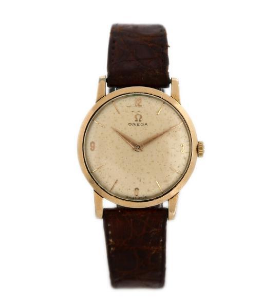 A gentleman's wristwatch of gold-plated steel