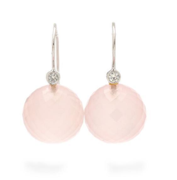 "A pair of ""Globe"" ear pendants each set"