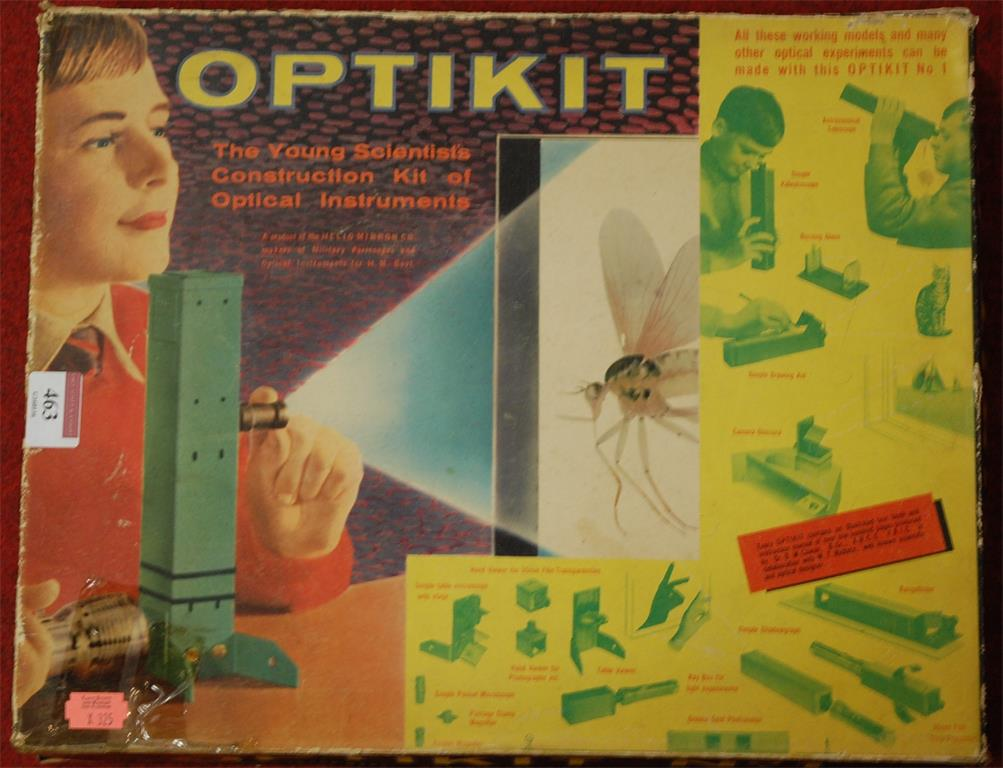 A boxed Optikiti No. 1 child's scientific set