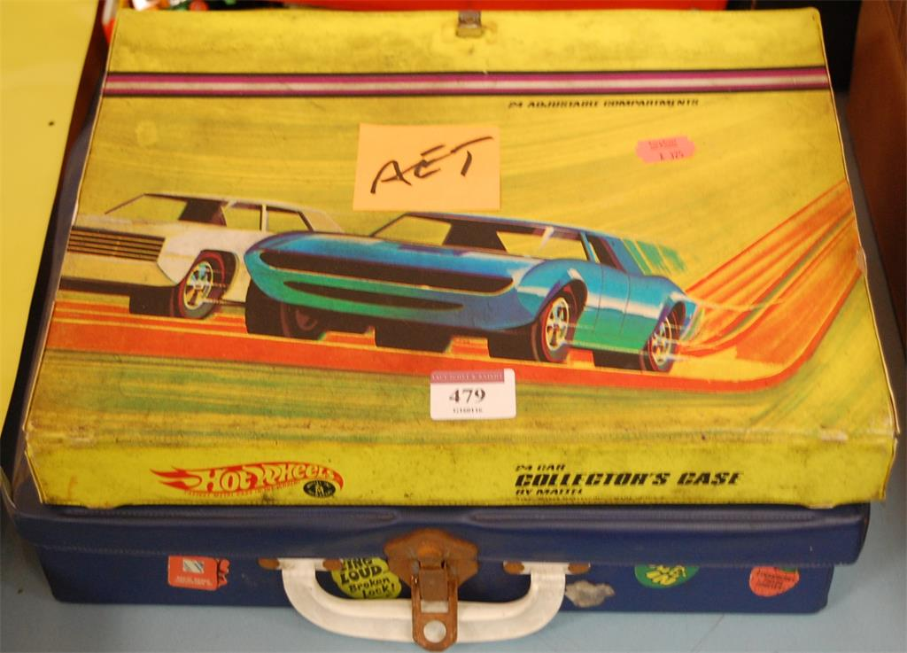 A Matchbox 41 Car Collector's Case and contents to include playworn diecast toy vehicles