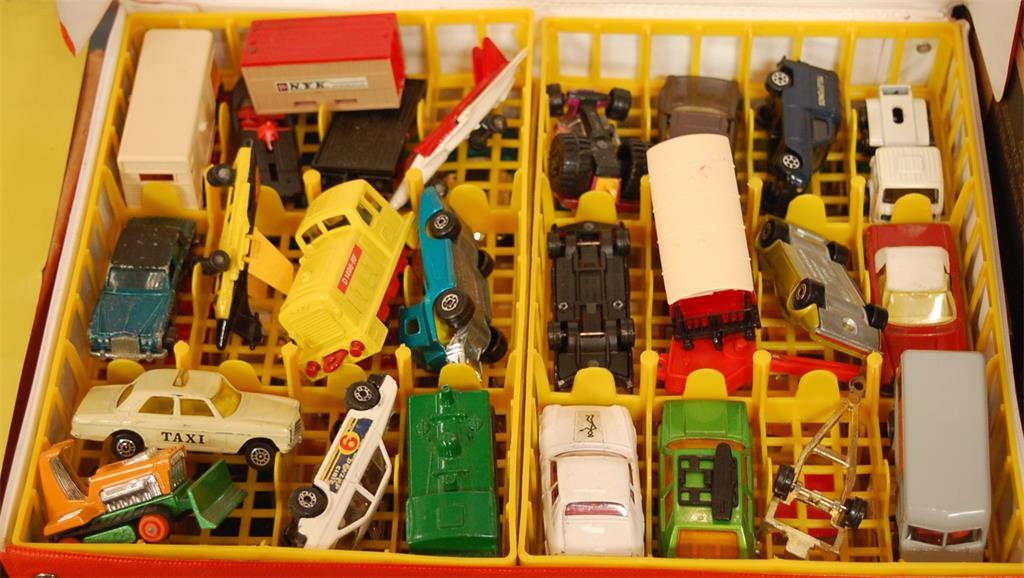 A collection of loose playworn toy vehicles to include Corgi Juniors Jaguar XJS